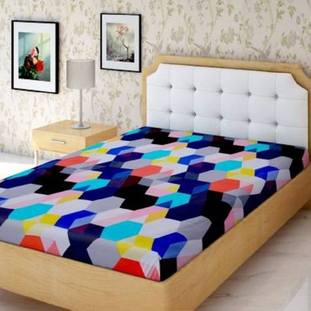 kihome 144 TC Microfiber Single 3D Printed Bedsheet