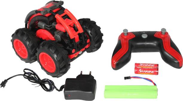 TRYTOKART Remote Control Amphibious Car Waterproof Water and Land Car Roll Double Sided Rotating Tumbling, Rechargeable 2.4Ghz High Speed 7.5Mph Car, Toy for Kids