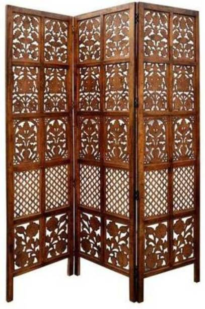 Artesia Handcrafted 3 Panel Wooden Room Partition & Room Divider (Brown) Solid Wood Decorative Screen Partition Solid Wood Decorative Screen Partition