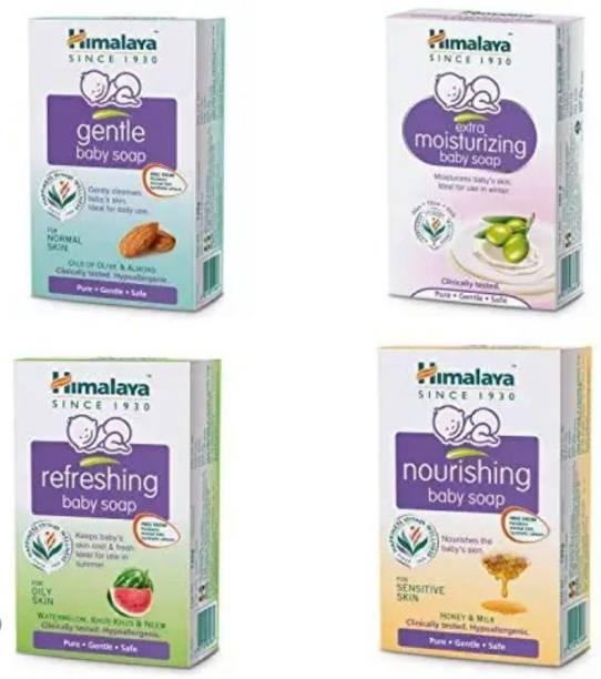 Himalaya Herbals Gentle Baby Soap Combo pack of 4 , 125 gm x 4