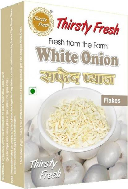 Thirsty Fresh White Onion Flakes - Dehydrated