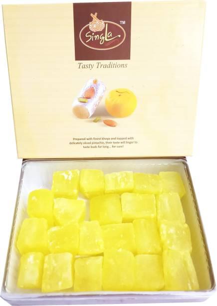 Singla Kesar dry petha sweets 500g Box