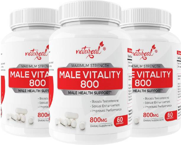 Natureal Male Vitality 800 mg Capsules for Maximum Strength, Power & Improved Performance