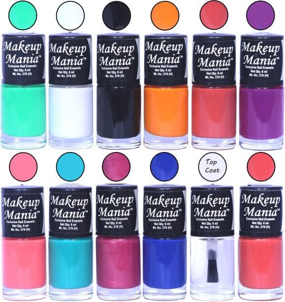 Makeup Mania Exclusive Nail Polish Set of 12 Pcs. Multicolor MM-93