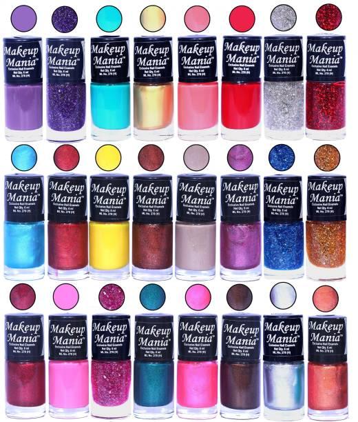 Makeup Mania Exclusive Nail Polish Set of 24 Pcs. MM-NP-92-94 Multicolor