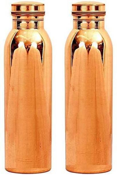 SUPRIMO copper bottle laquer set of 2 bottle 1000 ml Bottle