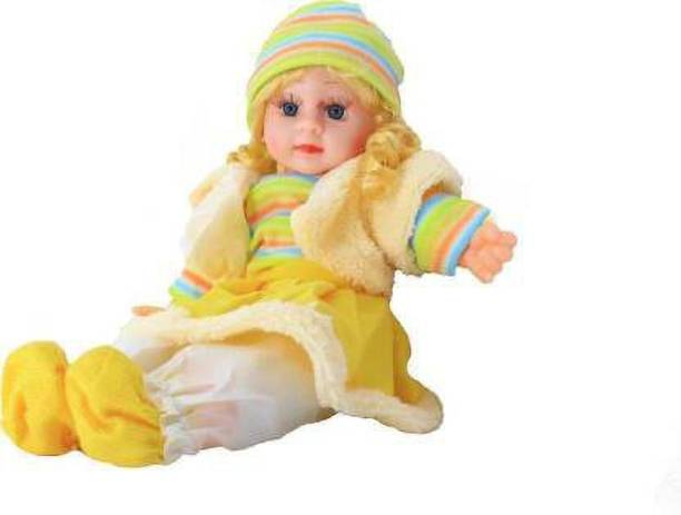 gopinathji Singing Musical Baby Poem Doll Toy For Girls (Multicolor
