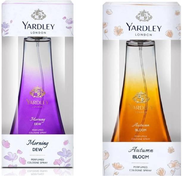 YARDLEY London Autumn Bloom And Morning Dew,50 ml each,pack of 2. Eau de Toilette  -  100 ml