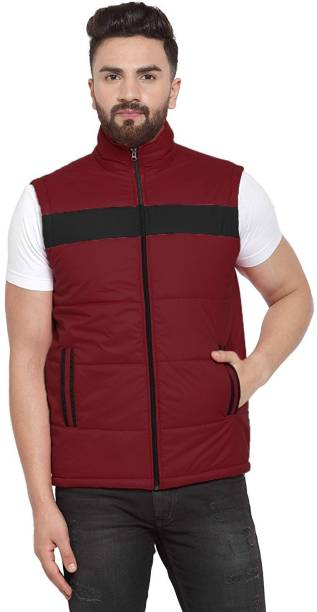 YUNEIK YEI_22370-2_Maroon_Black Riding Protective Jacket
