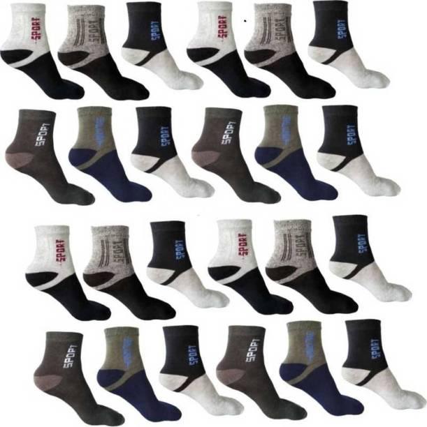 Kamini Men Color Block Ankle Length