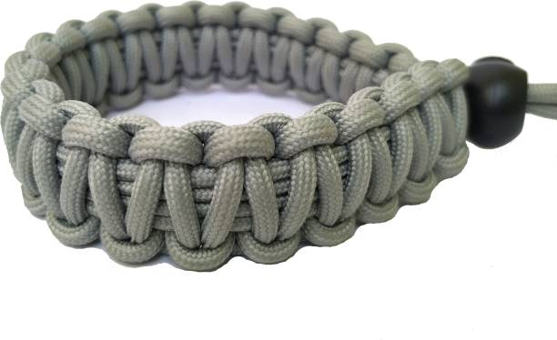 Djuize Paracord Wrist Strap for robust hand grip to hold all DSLR camera/heavy gear/Binocular-Grey Strap