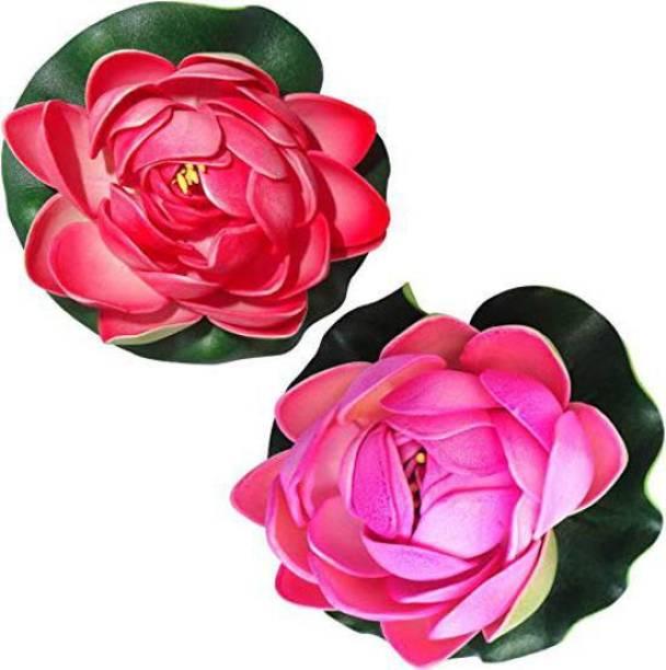 Aakriti Floating Lotus Medium Multicolor Assorted Artificial Flower Multicolor Lotus Artificial Flower