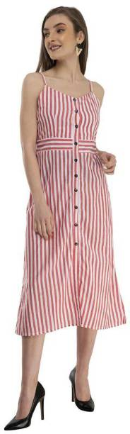 hpd Collection Women Shirt Red, White Dress