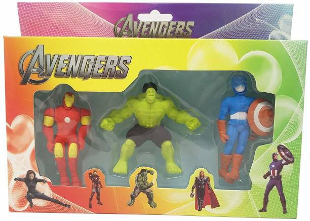 Quinergys ®New Avenger Erasers Set of 3-for Birthday Party for Kids Non-Toxic Eraser