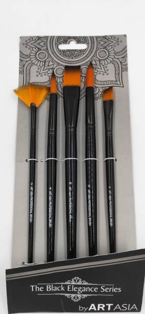 art asia Black Handle 5pc Brush set