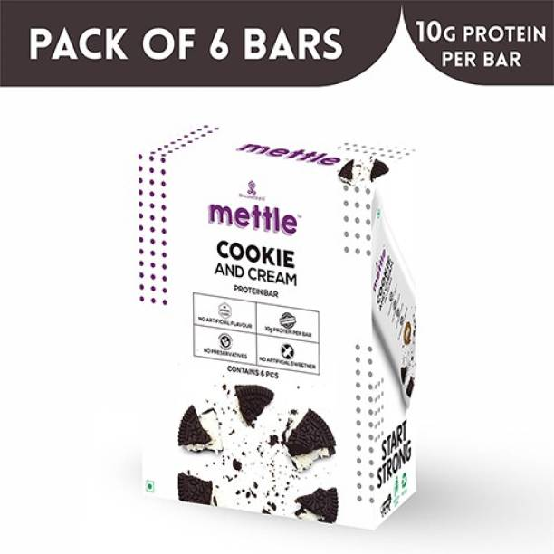 mettle Cookies and Cream Protein bar 6 Bars Protein Bars