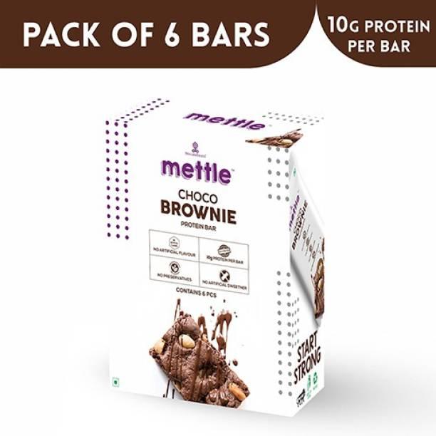 mettle Choco Brownie Protein bar 6 Bars (30g Each) Energy Bars