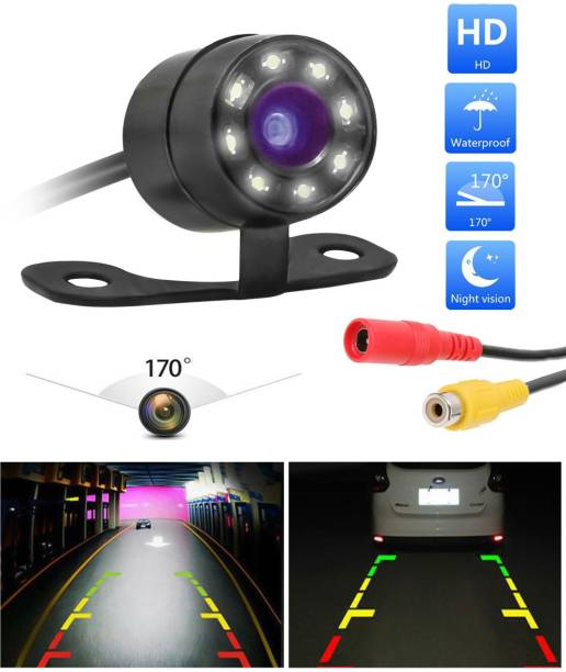 CARZEX waterpoof metal hook camera Waterproof NightVision Non Drill/Number Plate Hook Type Rear View Reverse Parking Camera for All Cars/Bus/Truck Vehicle Camera System