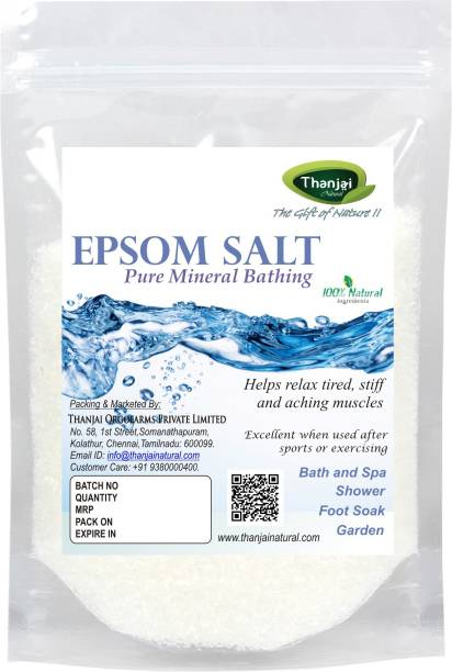 THANJAI NATURAL Epsom Salt for Muscle Relief, Relieves Aches & Pains, 1Kg Pure 100% Natural Natural Method Made