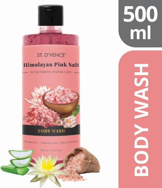 ST. D'VENCÉ Himalayan Pink Salt Body Wash With White Water Lily   No Parabens   PETA Approved