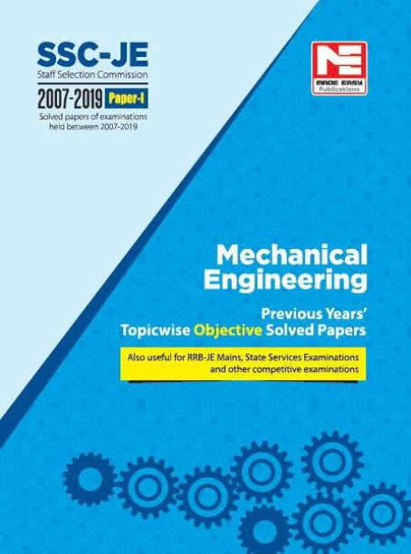 2020 Ssc Je Mechanical Engineering - Previous Year Objective Solved Papers