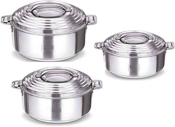 cello Pack of 3 Thermoware Casserole Set