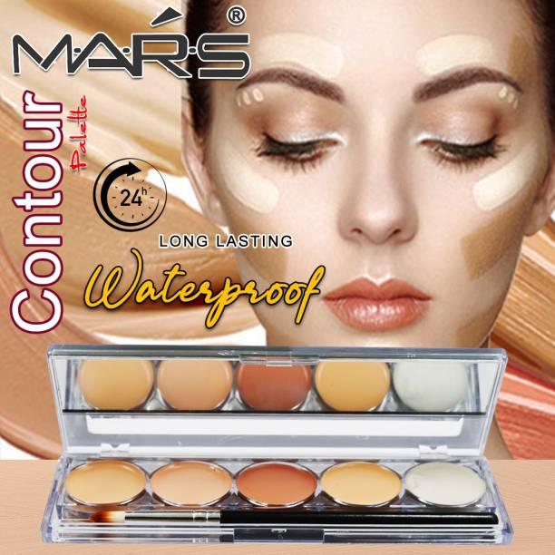 M.A.R.S 5 Color Waterproof Contour Palette 9547-01 Concealer