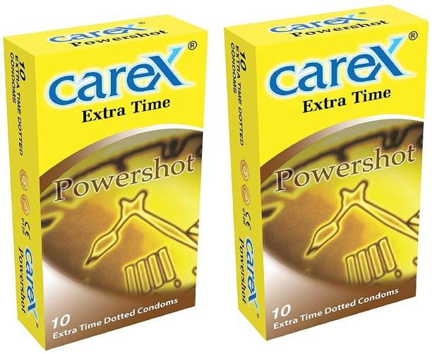 CAREX Power Shot Extra Time Dotted Condoms Condom