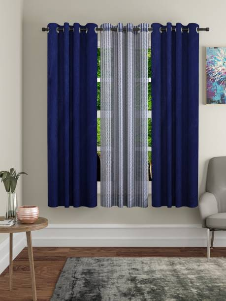 Flipkart Perfect Homes 152 cm (5 ft) Polyester Window Curtain (Pack Of 3)
