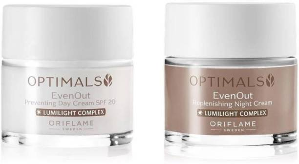 Oriflame Sweden Optimals Even Out Set Day Cream SPF20 &Night Cream Face Wash