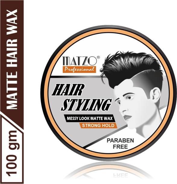Matzo Professional Hair Styling Messy Look Matte Wax Strong Hold Hair Wax Hair Wax