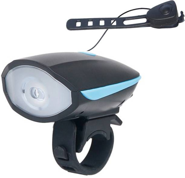 Adrenex by Flipkart USB Rechargeable Bicycle Horn (140 dB) 3 Modes LED Front Light