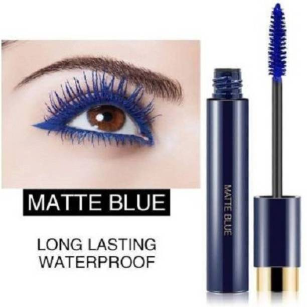 DPDM waterproof long lasting 24 hrs blue mascara smudgeproof high volume volumizing primer included matte mascara for professional look curl lashes big eyes mascara for dramatic eyes 10 ml
