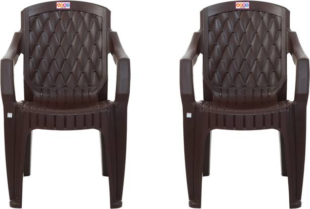 AVRO furniture 5052 MATT AND GLOSS CHAIR (SET OF 2 CHAIRS) Plastic Outdoor Chair