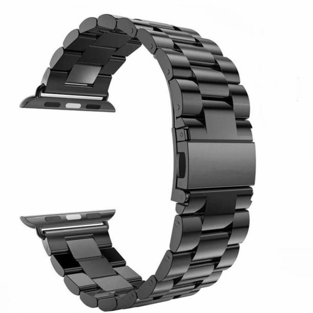 brand Ultra Luxury Stainless Steel Solid Metal Chain Strap 42mm / 44mm Band for iWatch Series 5/ Series 4/ Series 3/ Series 2/Series 1,( Jet Black) WATCH NOT INCLUDED Smart Watch Strap