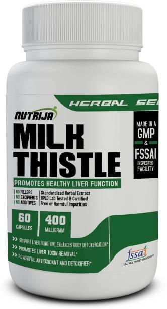 NutriJa Milk Thistle Silymarin 400mg - 60 Capsules