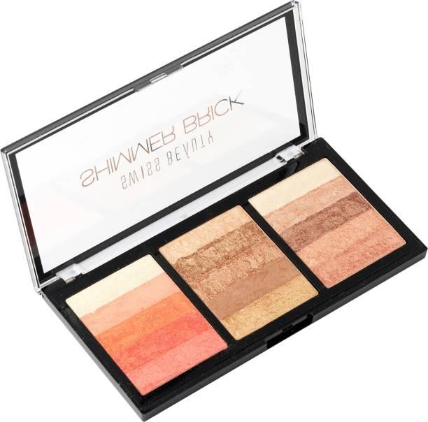 SWISS BEAUTY Shimmer brick Palette-03 Highlighter