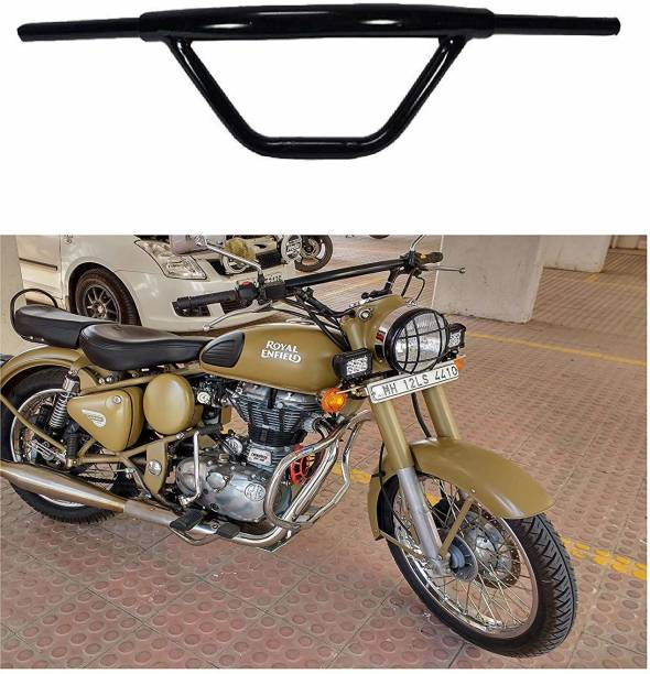 KROGGER Bike Handle Bar Dual Triple Curved Design Pipe Handlebar Pipe/Rod Black Handle Bar