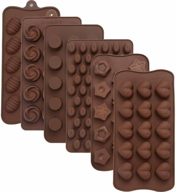 GETANYWAY Silicone Chocolate Mold Fondant Molds Candy Bar Kitchen Baking Accessories Ideal for Chocolate & Cake Decoration Random Design Chocolate Mould