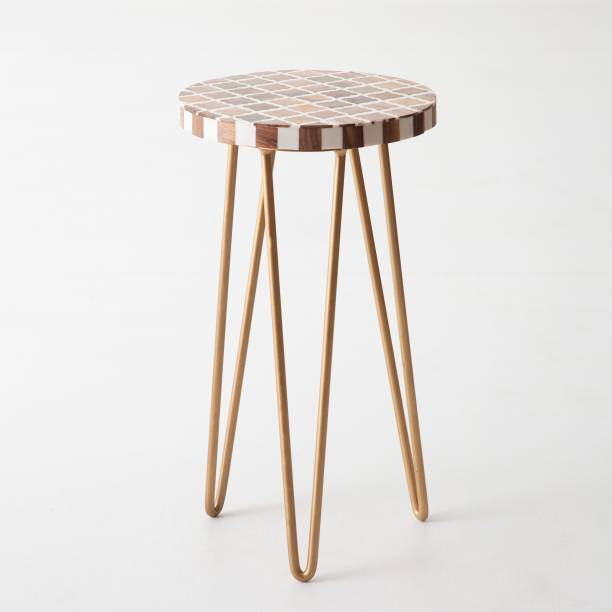 CASA DECOR Garden Table with Metal Hairpin Legs for Balcony,Living Room and Hallway Space Décor Table Metal Outdoor Table