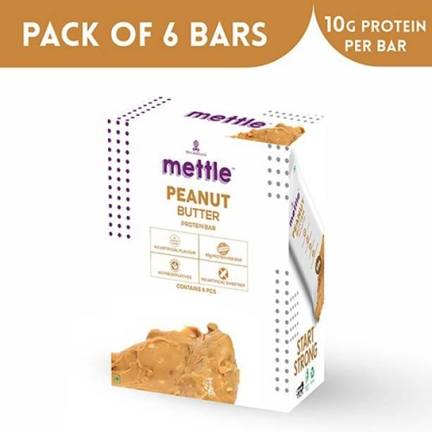 mettle Peanut Butter Protein bar 6 Bars (30g Each) Protein Bars