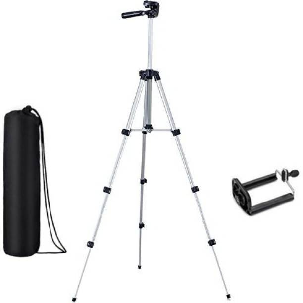 CASADOMANI Tripod-3110 Adjustable Aluminum High Quality Lightweight Camera Stand With Three-Dimensional Head & Quick Release Plate For Video Cameras, Portable Tripod With Mobile Holder Tripod