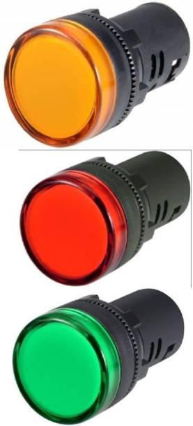Mexico PACK OF 3 LED Panel Indicator Light Pilot lamp Digital Voltage Tester