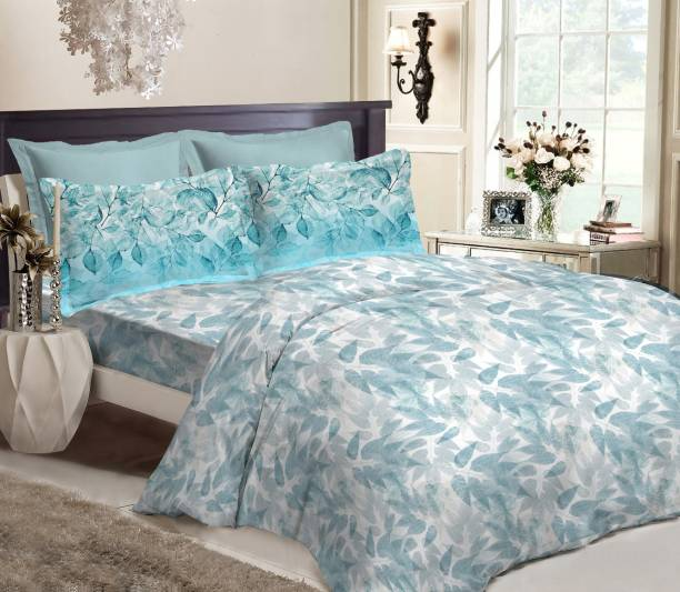 Bombay Dyeing 250 TC Cotton Double King Floral Bedsheet