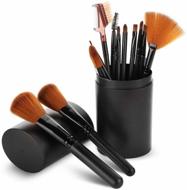 BELLA HARARO Extra Soft 12 Pc Premium Makeup Brush Set with Black Storage Box