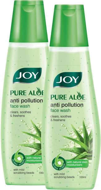 Joy Pure Aloe Anti Pollution  (Pack of 2 x100ml) Face Wash