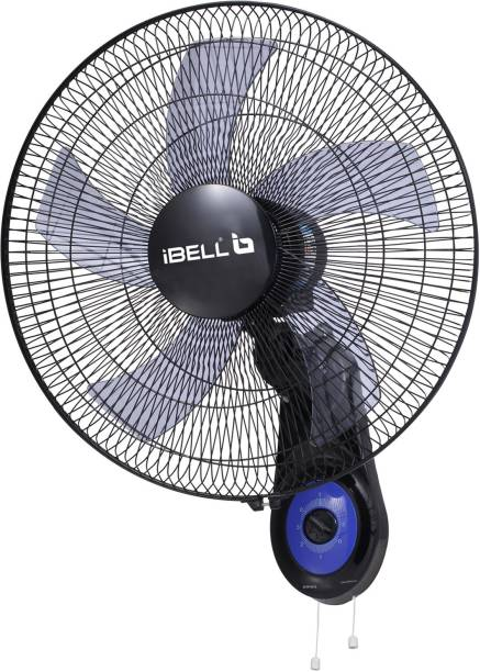 iBELL WF1980 Premium Wall Fan with 5 Leaf, Low Noise Motor,High Speed. Black 5 Blade Wall Fan