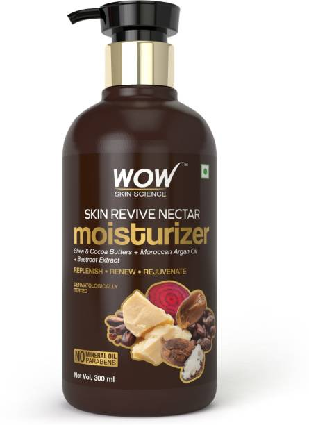 WOW SKIN SCIENCE Skin Revive Nectar Moisturiser - Shea & Cocoa Butters + Moroccan Argan Oil + Beetroot Extract - No Parabens and No Minerals