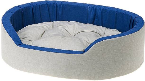 Hiputee Soft Velvet Reversible Oval Shape Dog/Cat/Pet Large L Pet Bed