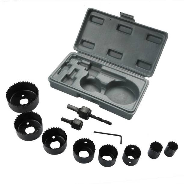 tools master 11 In 1 Metal Alloys Wood Hole Saw Set Rotary Bit Set